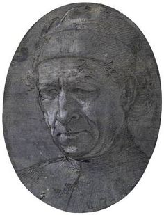 Head of an Elderly Man Wearing a Cap - Filippino Lippi.  c.1495.  Metalpoint on bluish-gray prepared paper, heightened with white.  190 x 140 mm.  Devonshire Collection, Chatsworth, UK.