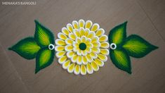 Easy Door Rangoli Design For Beginners Rangoli Designs Flower, Rangoli Designs Images, Rangoli Designs Diwali, Flower Rangoli, Mehndi Images, Beautiful Rangoli Designs, Free Hand Rangoli Design, Small Rangoli Design, Lotus Rangoli