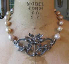 Art Deco Sterling & Pearls, Kathy Barrick, French Sentiments