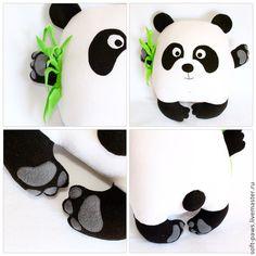 Купить Подушка-обнимашка Кроха Панда - подушка, подушка декоративная, подарок, подушка-игрушка