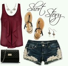 My summer fav such a cute outfit love everything
