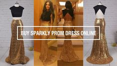 Buy Sparkly Long Mermaid Backless Two Piece Prom Dress For Cheap - Milly...