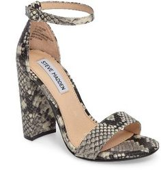 3ee9561ce1d3 A minimalist ankle-strap sandal is crafted in lush suede and set on a  chunky heel. Style Name Steve Madden Carrson Sandal (Women). Snake Skin  ShoesSteve ...