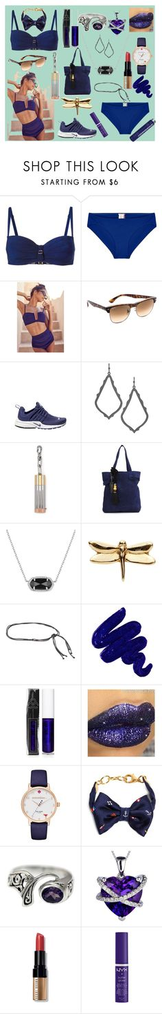 """""""Explore fashion.."""" by jamuna-kaalla ❤ liked on Polyvore featuring Marlies Dekkers, Orlebar Brown, Out From Under, Ray-Ban, NIKE, Kendra Scott, Alexander Wang, Lizzie Fortunato Jewels, Loquet and ALMAROSAFUR"""