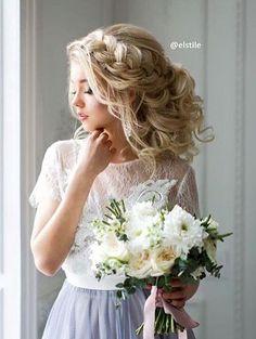 Elstile wedding hairstyles for long hair 8 - Deer Pearl Flowers / http://www.deerpearlflowers.com/wedding-hairstyle-inspiration/elstile-wedding-hairstyles-for-long-hair-8/