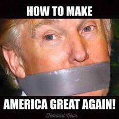 A funny meme lampooning Donald Trump's 'make America great' slogan.