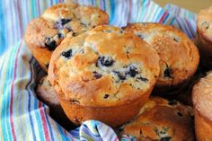 Bakery Style Blueberry Muffins- Our Share of the Harvest    Seriously the best muffin I've ever made.  Just like one of those big, cakey muffins you'd buy at a bakery!