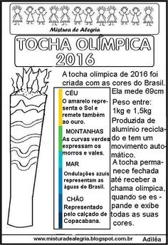 OLYMPIC TORCH 2016 DESIGN, TEXT AND ACTIVITY, PRINT AND COLOR-Mix of Joy …