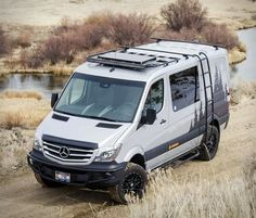 Looks like the Van Life movement is here to stay, the phenomenon is all the rage lately, specially the fascination with conversion vans built to take adventurers into the wild. Meet the future of the modern adventure van, Idaho-based Sync Vans offe Mercedes Sprinter Camper, Camping Car Sprinter, Sprinter Rv, 4x4 Camper Van, Build A Camper Van, 4x4 Van, T3 Vw, Volkswagen Touran, Sprinter Van Conversion