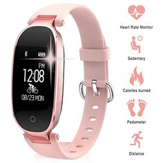 WOWGO Women Fitness Tracker Heart Rate Monitor Step Counter Activity Trackers Smart Bracelet Smartwatches Waterproof Bluetooth Pedometer Wristband with Sleep Monitor for Android ios Skateboards-Scooters Scooters Aid Supplies Sports Fitness Trackers For Women, Fitness Watches For Women, Best Watches For Men, Smartwatch, Athletic Watches, Sport Cardio, Tracker Fitness, Ios Iphone, Bracelets