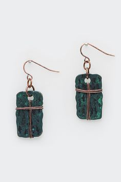 Patina Verdigris Ava Earrings on Emma Stine Limited