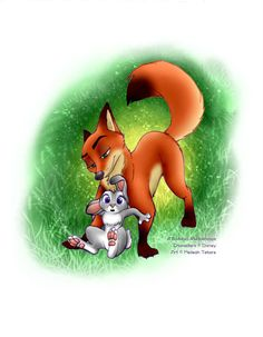 If you didn't know they were Judy and Nick, you would think this little bunny suddenly realized that wasn't a soft moss covered tree they were resting on. (Bet is a Bet, Judy. by TheWinterBunny.deviantart.com on @DeviantArt)