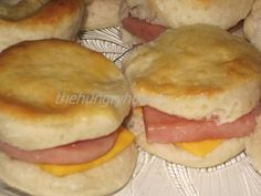 """SPAM and Cheese Sliders - Two tours to Iraq and both times my son returned home, this is the first thing he wanted me to cook for him.  Silly boy!  I used to make these little breakfast sandwiches for my kids all the time.  They are quick, tasty and can be consumed on the go.  All three of my children have continued the tradition of making these for their families.  The dipping sauce was added recently to my recipe, as was the term """"slider""""."""