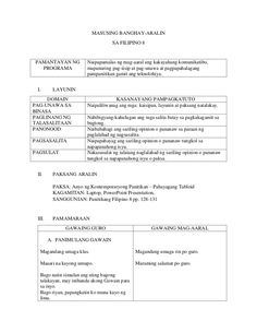 Detailed Lesson Plan in Filipino Grade 8
