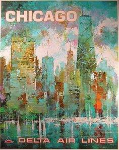 Chicago • Delta Air Lines #travel #poster