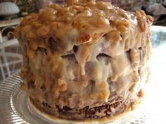 New Orleans double chocolate praline fudge cake - From http://pinterest.com/pin/178807047677991608/