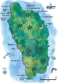 Map of Dominica Dominica Pinterest Geography