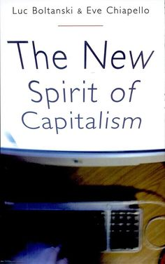 The New Spirit of Capitalism -Luc Boltanski, Eve Chiapello ' the heart of the changes in contemporary business culture ...  the authors trace the contours of a new spirit of capitalism. They argue that from the middle of the 1970s onwards, capitalism abandoned the hierarchical Fordist work structure&  developed a new network-based form of organization which was founded on employee initiative&autonomy in the workplace – a 'freedom' that came at the cost of material&psychological security.