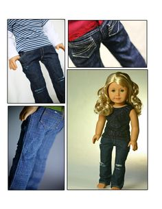 FREE - Blue jeans pattern for AG dolls