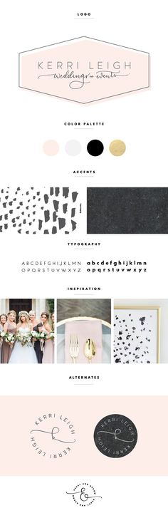 Blush and gold logo design / Brand design by Heart & Arrow                                                                                                                                                     More