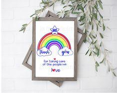 nhs thank you \ nhs _ nhs rainbow _ nhs quotes _ nhs thank you _ nhs rainbow window _ nhs quotes inspiration _ nhs rainbow ideas _ nhs art Thank You Poster, Thank You Sign, Thank You Cards, Thank You Nurses, Thank You Printable, We The People, Original Artwork, Card Stock, First Love