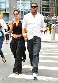 great looking couple Michael Strahan and Nicole Murphy