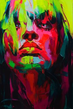 Francoise Nielly - Explosive Colorful Portraits Paintings. La pintora más impresionante del mundo.