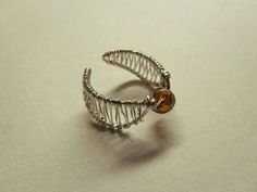 DIY Wire and Bead Golden Snitch Ring Tutorial #harrypotter #harry_potter
