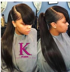 Invisible Ponytail Hairstyles for Women Black Girl Ponytail Styles 26 Ponytail Hairstyles for Black Of 89 Wonderful Invisible Ponytail Hairstyles for Women Weave Ponytails With Bangs, Black Girl Ponytails, Long Ponytail Hairstyles, Bangs Ponytail, Long Ponytails, Sleek Ponytail, Ponytail Styles, Hairstyles With Bangs, Weave Hairstyles