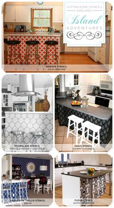 Cutting Edge Stencils Shares Gorgeous Stenciled Kitchen Ideas That Use  Painted Patterns On Kitchen Islands,