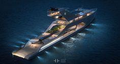Tecnoneo: El Megayacht '108M' diseñado por Hareide, es una embarcación de lujo respetuosa con el medio ambiente