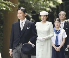 Crown Princess Masako, July 29, 2014 | Royal Hats.......Posted on July 29, 2014 by HatQueen....Crown Prince Naruhito and Crown Princess Masako of Japan took their daughter Princess Aiko for her first visit to the Ise Shrine today.
