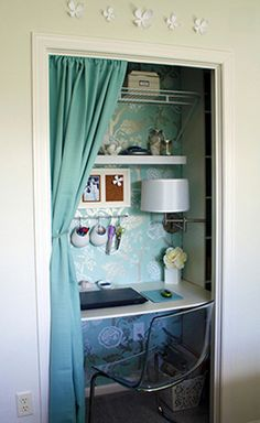 closet reading nook pics - this one is desk version