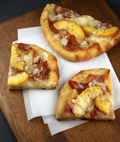 peach pizza | peach and prosciutto pizza 1 lb pizza dough peaches sliced