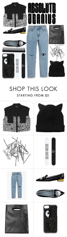 """""""Absolute Jealous"""" by emcf3548 ❤ liked on Polyvore featuring Monki, 3 Concept Eyes, Chiara Ferragni and GHD"""
