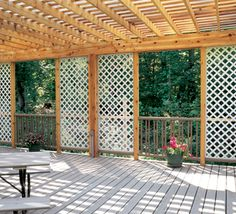 Plastic lattice panels - All about the goods Carport Patio, Gazebo Pergola, Patio Privacy, Lattice Garden, Lattice Patio, Vinyl Lattice Panels, Plastic Lattice, Backyard Lighting, Swimming Pools Backyard