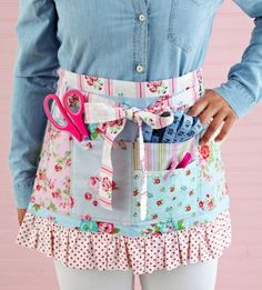 Handy Work crafts apron by Lynn Jeffries- Quilts and More magazine Spring 2014