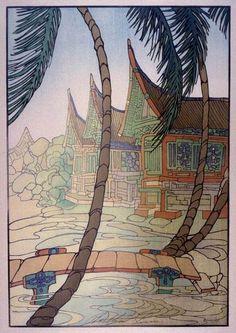 Rice Barns, Sumatra ; 1936 ; Bertha Lum