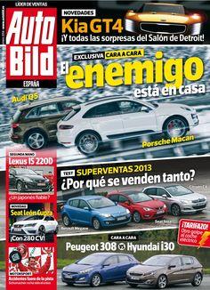 Revista #Autobild España 420.  #Kia GT4, Audi Q5 Vs #Porsche Maca. #Lexus IS 220D. #Seat Leon Cupra. #Schumacher.