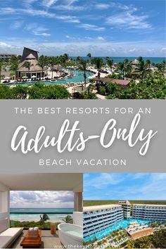 Choosing an all-inclusive resort for your adults-only beach vacation can be overwhelming. How do you know which one will be ideal for your vacation needs? There is a different all-inclusive, adults-only resort for your honeymoon verse your bachelorette party verse your girls getaway. Here are five resorts ideal for every type of adults-only vacation. Which one will you pick? | The Keys to Travel All Inclusive Carribean Resorts, All Inclusive Honeymoon, Best Resorts, Honeymoon Ideas, All Inclusive Couples Resorts, Caribbean Vacations, Beach Vacations, Dream Vacations, Couples Vacation
