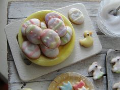 Easter egg sugar cookies by Kim Saulter 1:12 scale