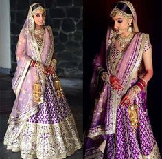 Every Indian Bride has her own designer wedding lehenga dreams. We have picked our favourite stunning bridal lehenga colors that are not red Indian Bridal Lehenga, Indian Bridal Fashion, Indian Bridal Wear, Indian Wedding Outfits, Bridal Outfits, Indian Wear, Indian Outfits, Bridal Dresses, Indian Weddings