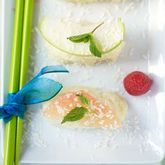 """These brightly-colored""""fruishi""""rolls replace raw fish with fresh fruit."""