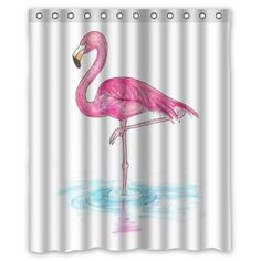 "Amazon.com: Funny novelty Flamingos 60"" x 72"" Polyester Fabric Waterproof Shower Curtain: Home & Kitchen"