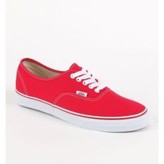 Mens Vans Shoes - Vans Spring '12 Authentic Red Shoes