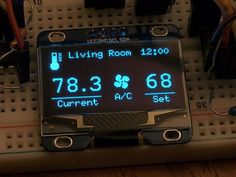 tiny OLED calendar display (arduino) - Page 3 Arduino Thermostat, Rfid Arduino, Home Thermostat, Arduino Sensors, Hobby Electronics, Cool Electronics, Electronics Projects, Arduino Remote Control, Arduino Display