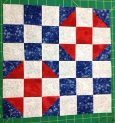 So proud to have my block and table runner as part of the Red White & Blue Blog Hop.