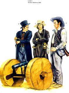 USA- defensores del Alamo 1836 Mexican Army, Mexican American War, American History, Military Art, Military History, American Uniform, Native American Models, Texas Revolution, Osprey Publishing