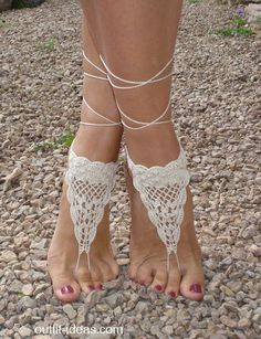 Handmade Crochet Barefoot Sandals for Wedding, Boho, Bikini, Beach, Toe, Anklet Foot Jewelry BUY HERE BUY HERE BUY HERE