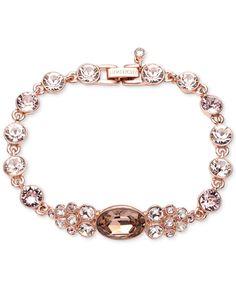 Givenchy Rose Gold-Plated Silk Tanzanite Flex Bracelet